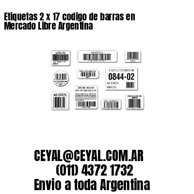 Etiquetas 2 x 17 codigo de barras en Mercado Libre Argentina