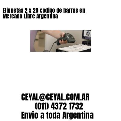 Etiquetas 2 x 20 codigo de barras en Mercado Libre Argentina