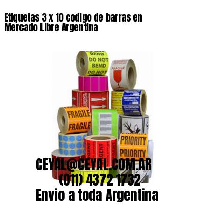Etiquetas 3 x 10 codigo de barras en Mercado Libre Argentina