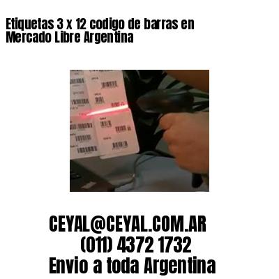 Etiquetas 3 x 12 codigo de barras en Mercado Libre Argentina