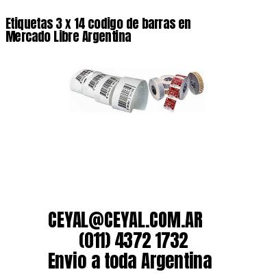 Etiquetas 3 x 14 codigo de barras en Mercado Libre Argentina