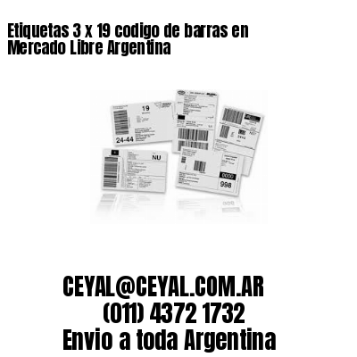 Etiquetas 3 x 19 codigo de barras en Mercado Libre Argentina