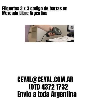 Etiquetas 3 x 3 codigo de barras en Mercado Libre Argentina