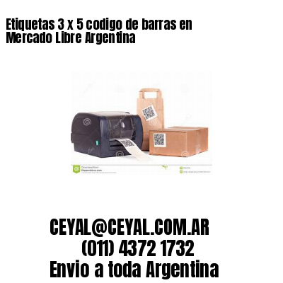 Etiquetas 3 x 5 codigo de barras en Mercado Libre Argentina