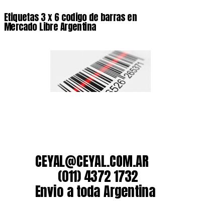 Etiquetas 3 x 6 codigo de barras en Mercado Libre Argentina