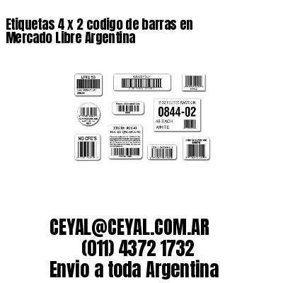 Etiquetas 4 x 2 codigo de barras en Mercado Libre Argentina