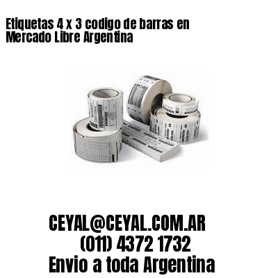 Etiquetas 4 x 3 codigo de barras en Mercado Libre Argentina