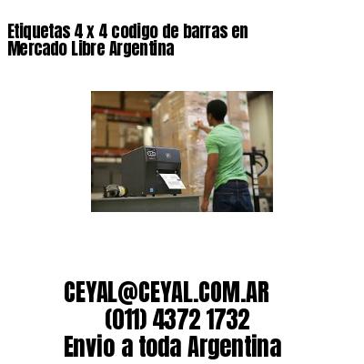 Etiquetas 4 x 4 codigo de barras en Mercado Libre Argentina