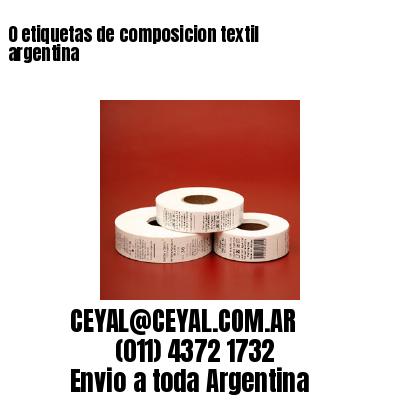0 etiquetas de composicion textil argentina