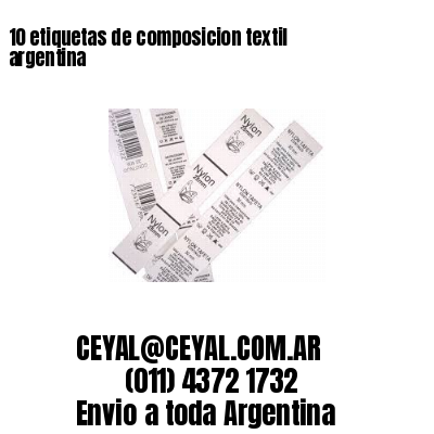 10 etiquetas de composicion textil argentina
