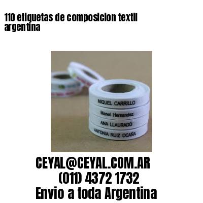 110 etiquetas de composicion textil argentina