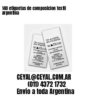 140 etiquetas de composicion textil argentina