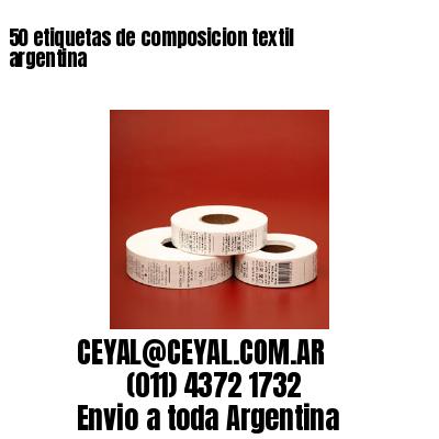 50 etiquetas de composicion textil argentina