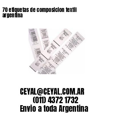 70 etiquetas de composicion textil argentina