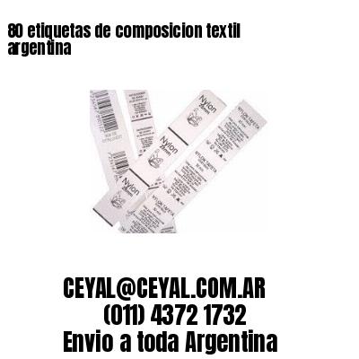 80 etiquetas de composicion textil argentina