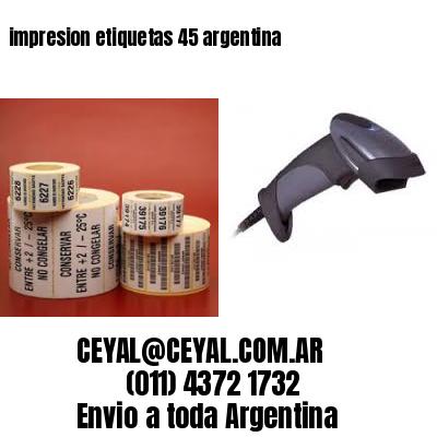 impresion etiquetas 45 argentina
