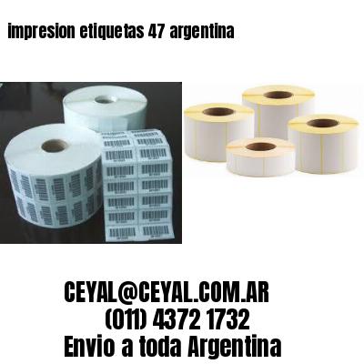 impresion etiquetas 47 argentina