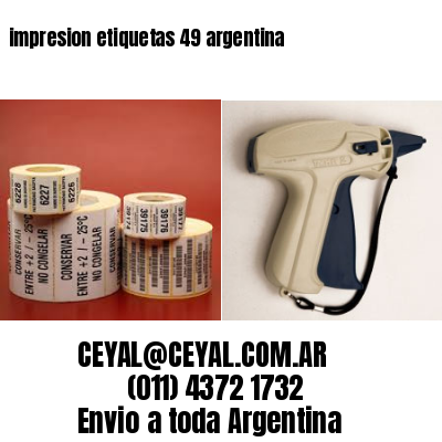 impresion etiquetas 49 argentina