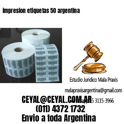 impresion etiquetas 50 argentina