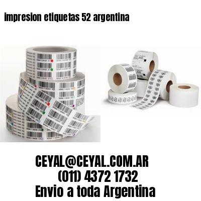 impresion etiquetas 52 argentina