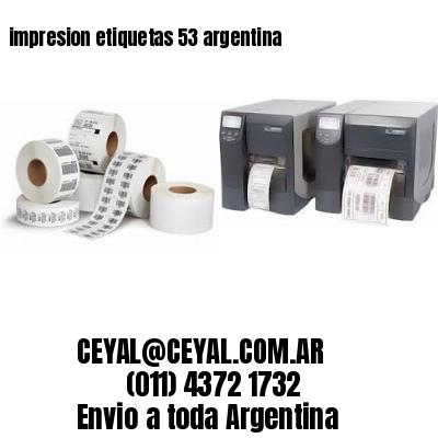 impresion etiquetas 53 argentina