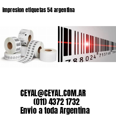 impresion etiquetas 54 argentina