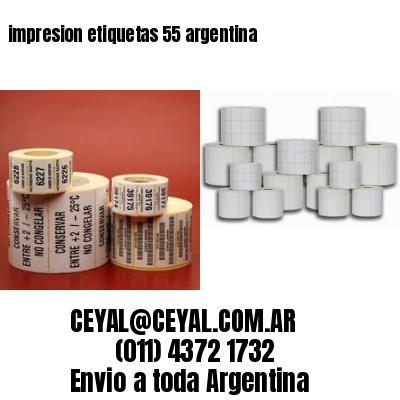 impresion etiquetas 55 argentina