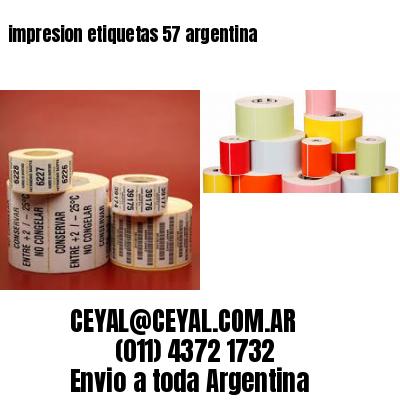 impresion etiquetas 57 argentina