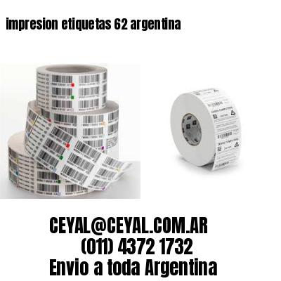 impresion etiquetas 62 argentina