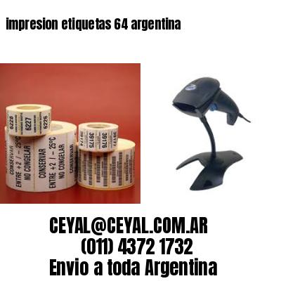 impresion etiquetas 64 argentina