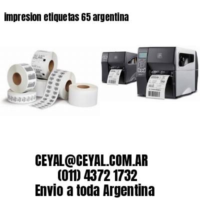 impresion etiquetas 65 argentina