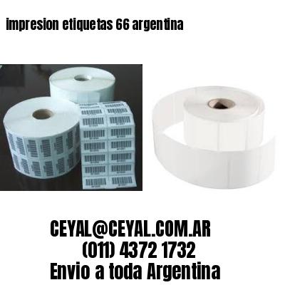 impresion etiquetas 66 argentina