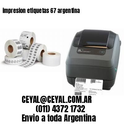 impresion etiquetas 67 argentina