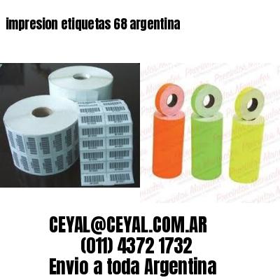 impresion etiquetas 68 argentina