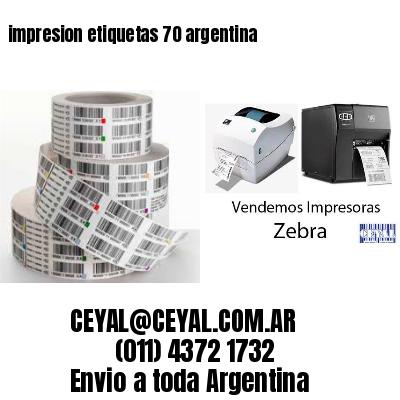 impresion etiquetas 70 argentina