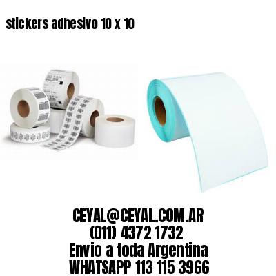 stickers adhesivo 10 x 10