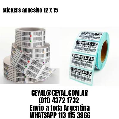 stickers adhesivo 12 x 15