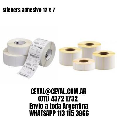 stickers adhesivo 12 x 7