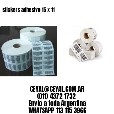 stickers adhesivo 15 x 11
