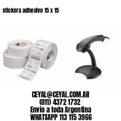 stickers adhesivo 15 x 15