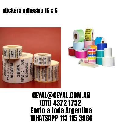 stickers adhesivo 16 x 6