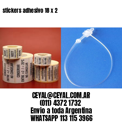stickers adhesivo 18 x 2