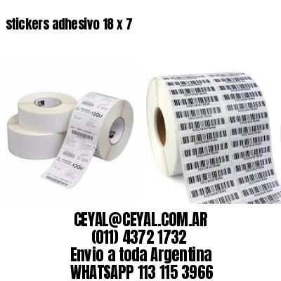 stickers adhesivo 18 x 7