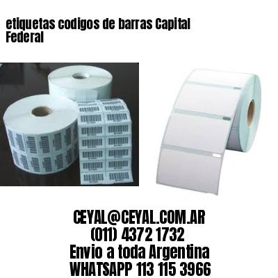 etiquetas codigos de barras Capital Federal