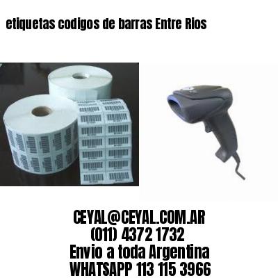 etiquetas codigos de barras Entre Rios
