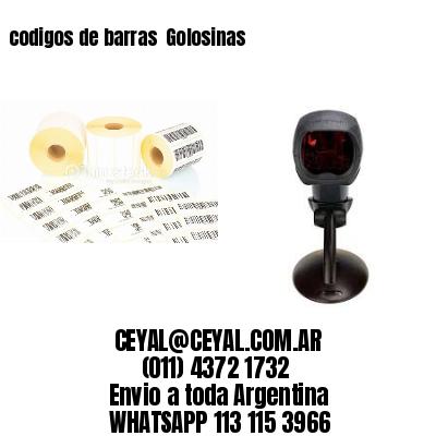 codigos de barras  Golosinas