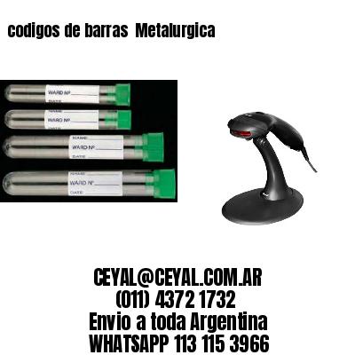 codigos de barras  Metalurgica