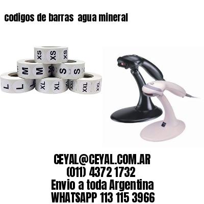 codigos de barras  agua mineral