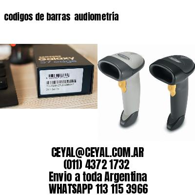 codigos de barras  audiometría