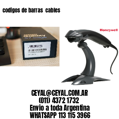 codigos de barras  cables